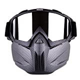 Outamateur Motorcycle Goggles Mask - Tactical Glasses with Detachable Mask Adjustable Windproof Outdoor