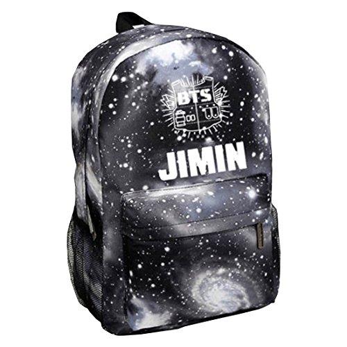 Partiss Unisex Kpop BTS Backpack,One Size,JIMIN Black