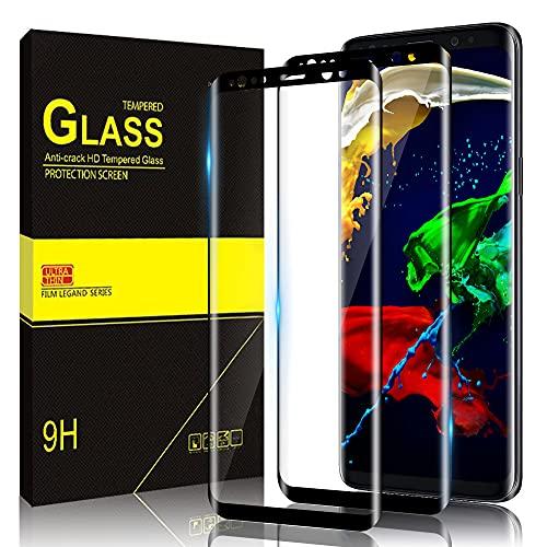 Zinking [2 Stück] Panzerglas kompatibel mit Samsung Galaxy S9, 3D Volle Abdeckung, 9H Härtegrad, Anti-Scratch Galaxy S9 Schutzfolie, Ultra HD Displayschutzfolie, Panzerglasfolie für Samsung S9