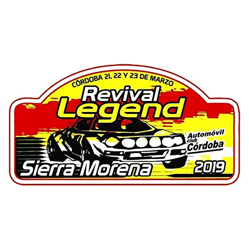 PEGATINEA Rallye Aufkleber Revival Legend Sierra Morena 2019 Vynil klebstoffe Plattenaufkleber PR284