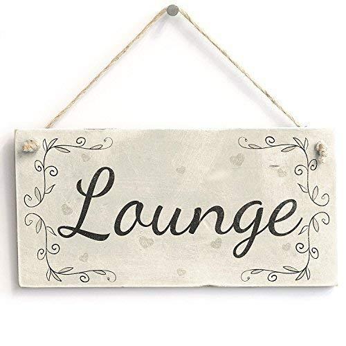 /Fait /à la Main en Bois de Style Shabby Chic Plaque Panneau de Porte pour WC ou vestiaire jkcm99/W.C./