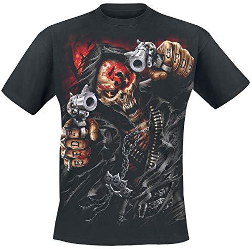 Five Finger Death Punch Assassin Männer T-Shirt schwarz L 100% Baumwolle Band-Merch, Bands, Totenköpfe