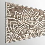 MEGADECOR DECORATE YOUR HOME Cabecero Cama PVC 5mm Decorativo Económico. Modelo - Wampanoag (150x60cm)