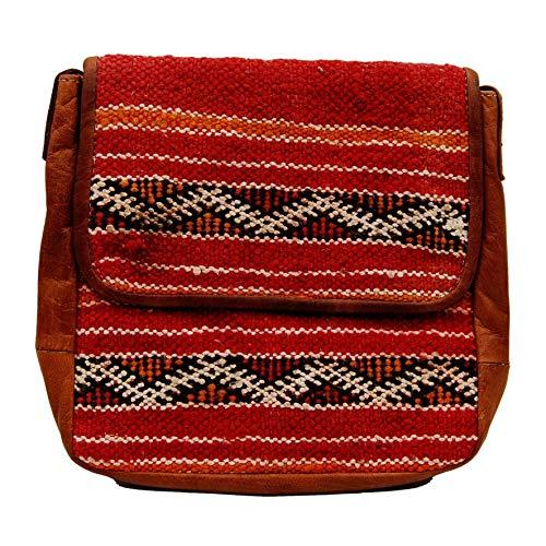 Etnico Arredo Bolso bandolera auténtica piel africana Marruecos cuero vintage 0705201100