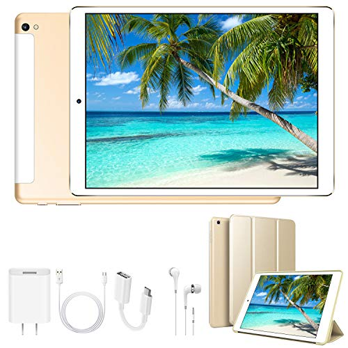 4G Tablet 10.1 Pollici WiFi 32GB ROM 3GB RAM 3 Slot Android 9.0 Quad-Core Batteria 8500mAh Dual SIM Bluetooth / GPS / OTG 8MP Camera Tablet Sbloccato DUODUOGO G12