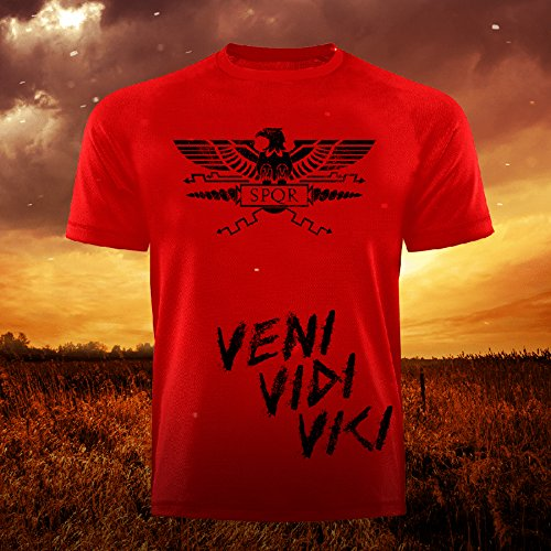 GODSRAGE Limitiert Fitnessbekleidung T-Shirt Training Sport Bodybuilding Fitness Freizeit (4XL, SPQR Rot)
