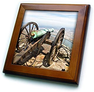 3dRose Danita Delimont - Chattanooga - Tennessee, Chattanooga. Point Park National Historic Park. Cannon - 8x8 Framed Tile (ft_251427_1)