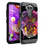 Ohiya Case Compatible with LG Tribute Monarch [Shock Absorption Flexible Texture Men Women Heavy Duty Slim Black Case Phone Cover] for LG Tribute Monarch Boost Mobile (Watercolor Splash Elephant)