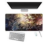 Alfombrilla de ratón grande para videojuegos My Hero Academia Alfombrilla de goma antideslizante para ordenador portátil, teclado de escritorio XXL 900 x 400 (mm)