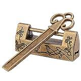 Redxiao 【𝐕𝐞𝐧𝐭𝐚 𝐑𝐞𝐠𝐚𝐥𝐨 𝐏𝐫𝐢𝐦𝐚𝒗𝐞𝐫𝐚】 Candado Antiguo, candado pequeño Vintage, candado de pájaro con Flores talladas, candado Decorativo para joyero para cajón(Magpie Bronze)