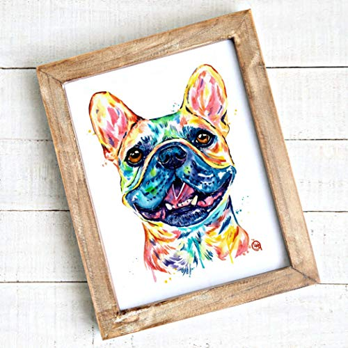 French Bulldog Wall Art, Frenchie, French Bulldog Gifts, French Bulldog Home Decor | Professional Art Print of a French Bulldog Original Artwork Watercolor Painting By Lisa Whitehouse