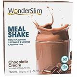 WonderSlim Meal Replacement Shake, Chocolate Cream, 24 Essential Vitamins & Minerals, Only 100 Calories, 15g Caseinate Protein, Unbeatable Taste, Low Fat, Kosher, Vegetarian - 7 Servings