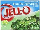 Jell-O Sugar Free Lime Gelatin Ten calories per 1/2 cup serving Eight servings per pack 0g sat fat (0% DV). 60mg sodium (3% DV). 0g sugars. Kraft Foods