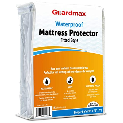 "Guardmax Sofa Mattress Protector Cover | Fitted, Waterproof & Hypoallergenic | Noiseless and Breathable (Sofa 60""X72"")"