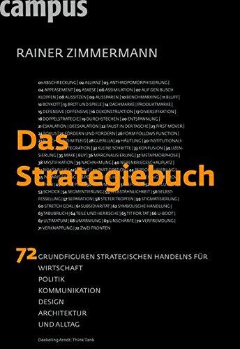 Zimmermann Rainer, Das Strategiebuch. 72 Grundfiguren strategischen Handelns für Wirtschaft, Politik, Kommunikation, Design, Architektur und Alltag.