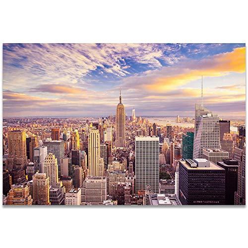XIXISA Hermoso Puente Paisaje Urbano Escena Nocturna Puesta de Sol Nueva York Torre de Tokio Carteles e Impresiones Imagen para Carteles de decoración de Sala de Estar 50x70cm Sin Marco