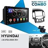 UGAR EX9 7' Android 9.0 DSP Autoradio GPS Navigation + 11-141 Radioblende Dash Installation Faszie Kit für Hyundai i-30 (FD) 2008-2011