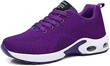 FLARUT Running Shoes Womens Lightweight FashionSoprt Sneakers Casual Walking Athletic Non Slip(Purple, EU38)