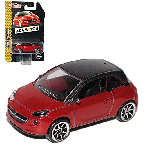 Opel Adam 3 Türer Dunkel Rot mit Schwarzem Dach 1/64 Norev Modell Auto mit individiuellem Wunschkennzeichen