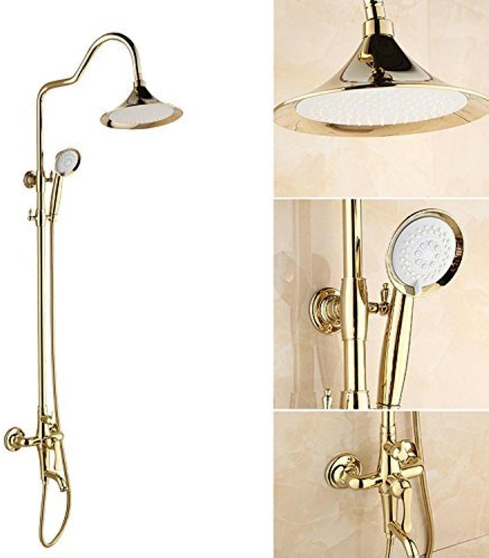 golden shower set full copper shower head overhead shower hand shower shower shower screen