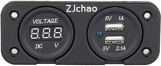 Pegcdu Dual-Display Tester USB di Misura DC Voltmetro Digitale Corrente rilevatore di Tensione di Potere del Caricatore di Corrente Indicatore