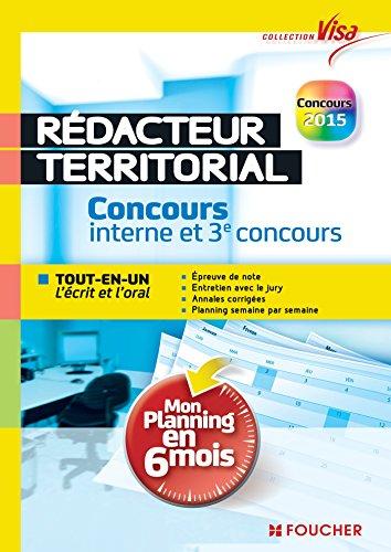 Visa - Rédacteur territorial - Concours interne et 3e voie - Mon planning en 6 mois