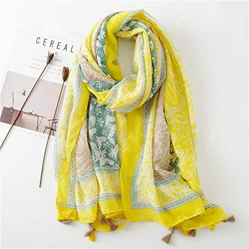 Schal Damen Mode Cashew Blumen Patchwork Viskose Schal Schal Frauen Hochwertige Muslimische Hijab 180 * 90Cm-3