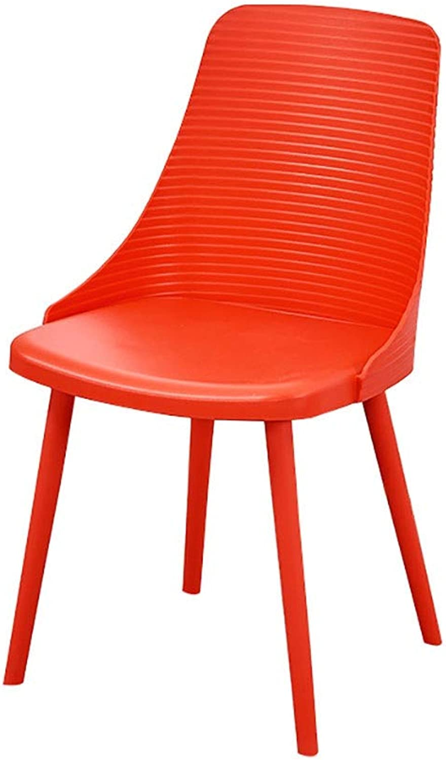 Simple Dining Chair Home Restaurant Backrest Plastic Chair Bedroom Desk Chair Adult Lounge Chair Fashion Chair (color   Red)