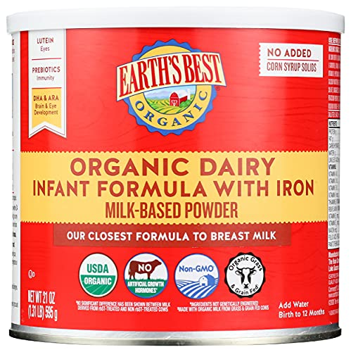 Earth's Best Organic Dairy Infant Powder Formula with Iron