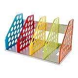 Estantería de almacenamiento mesa multi-couches módulo de índice DIY de plástico para oficina sala de estudio carpeta papel respaldo Magazine libro 381* 217* 212mm-multicolore