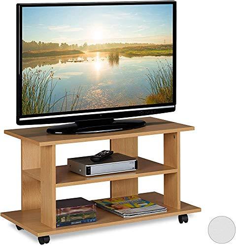 Mueble de TV de diseño moderno, con rueda de madera,Wood Color