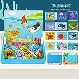 YLJYJ Los Rompecabezas Pueden Dibujar Juguetes cerebrales educativos para niños Uso múltiple de 3 a 6 años, Ejercicios de Rompecabezas Juegos de Rompecabezas