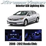 XtremeVision Honda Civic 2006-2012 (10 piezas) Premium Kit de LED Interior + Herramienta de Instalación, Azul
