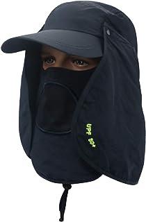 Dark Blue Visor Hat For Men