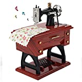MOGOI Vintage Gramophon Spieluhr Kreative Retro Spieluhr Basteln Kinder Zuhause Büro Arbeitszimmer Dekoration Nähmaschine