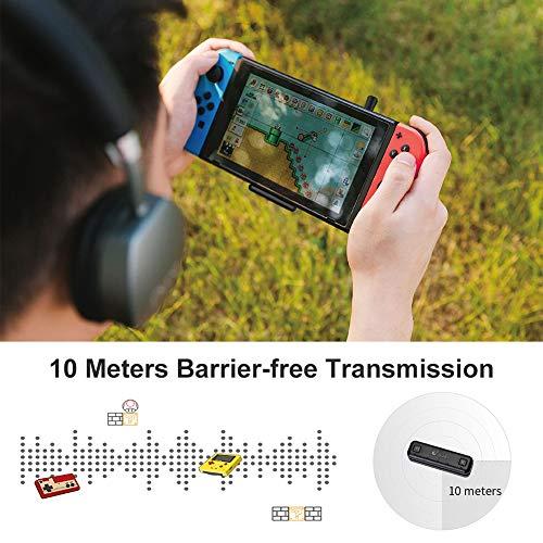 GuliKit Route Air Pro Bluetooth Audio Adapter Transmitter Kompatibel mit Switch, Switch Lite, PS4, PC, Bluetooth Kopfhörer AirPods Bose Sony, mit aptX-geringer Latenz, Voice Chat im Spiel