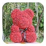 FOSTUDORK Rose Bär Box, 40cm Teddy Seifenschaum Blumen-Puppen Artificial Tier-Spielzeug Mädchen...