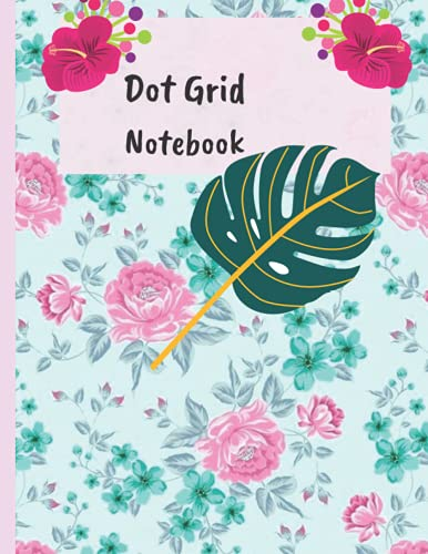 Dot Grid Notebook: Leaves Dot Grid Notebook Journal For Girls And Boys