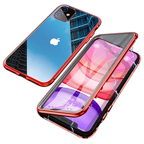 6,1 Pulgada 360 Grados Proteccion Case Privacidad Vidrio Templado Anti esp/ía Cover Adsorci/ón Magn/ética Metal Bumper Cubierta para iPhone XR Negro Jonwelsy Anti-Spy Funda para iPhone XR