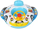 EPROSMIN Baby Swimming Inflatable Float Car - Kids Seat Infant Boat Pool Ring, Yacht Swimming Rings, Toddler Baby Inflatable Float, Pool Float for 1-3 Year Old Baby and Kids