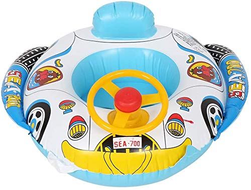 Baby Swimming Inflatable Float Car - Kids Seat Infant Boat Pool Ring, Yacht Swimming Rings, Toddler Baby Inflatable Float, Pool Float for 1-3 Year Old Baby and Kids