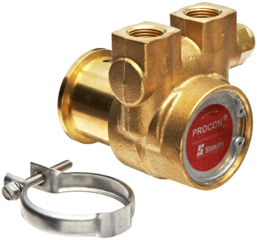 Procon 102A140F11PA Brass Rotary Vane Pump, 3/8