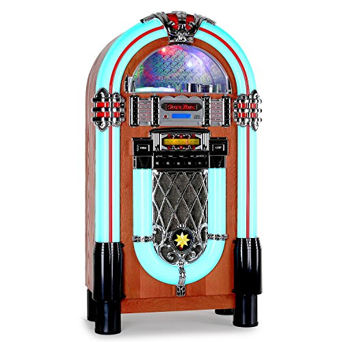 AUNA Graceland XXL Jukebox Vintage - Rockola Discos , MP3 , CD , AUX , Radio FM...