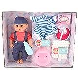 LFLF Conjunto De Juguetes Lindos (my002-3) Bebé Recién Nacido Conjunto De Muñecas De Vida útiles De Los Ojos Parpadean con Ropa