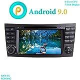 XISEDO Android 9.0 Autoradio 7' In-Dash Car Radio 6 Core RAM 4G ROM 64G Autonavigation mit DVD Player für Mercedes-Benz E-W211/E200/E220/E280 (Autoradio)