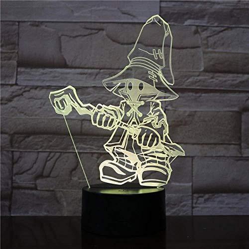 IVI Ornitier 3D Lámpara de mesa Juego Final Fantasy IX Luz nocturna LED Sensor táctil Regalo de luz decorativa