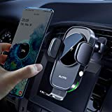 Auckly 15W ワイヤレス充電器 車載ホルダー【QI認証済み】 電磁誘導自動開閉 片手操作 吹き出し口 急速充電 車 スマホホルダー iPhone 12 mini Pro Max 11 / 11 Pro/Max/XS/XR/X / 8 / 8 Plus/Samsung Galaxy S10/S10+/S9/S9+/Note 10 LG Sony その他Qi搭載機種(日本語説明書付)