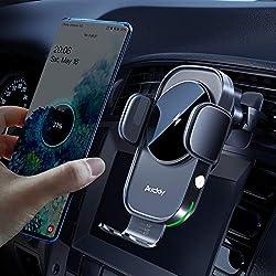 Auckly Qi 15W Caricatore Wireless Auto,Auto-Bloccaggio Supporto Telefono Auto, Ricarica Wireless Auto per iPhone 12 Pro Max Mini 11/11 Pro/Xs Max/XR/8,Supporto Smartphone per Galaxy S20/S10/S9 e Altri