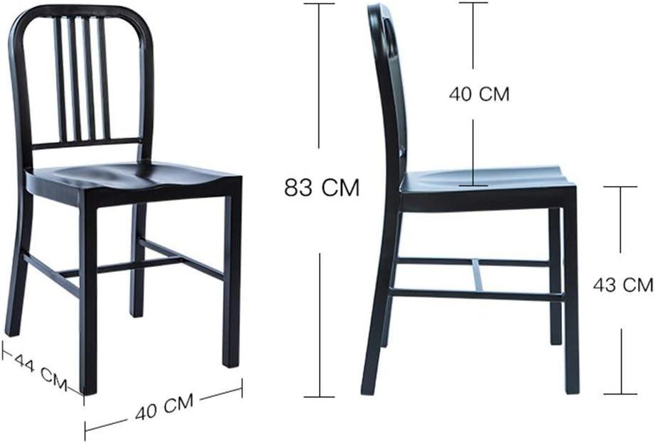LIU Chaise de Salle à Manger en Plastique avec Dossier Simple, épais, PP, Restaurant Cuisine comptoir Accueil Salon Chaise Chaise Balcon Salon (Couleur : G) F