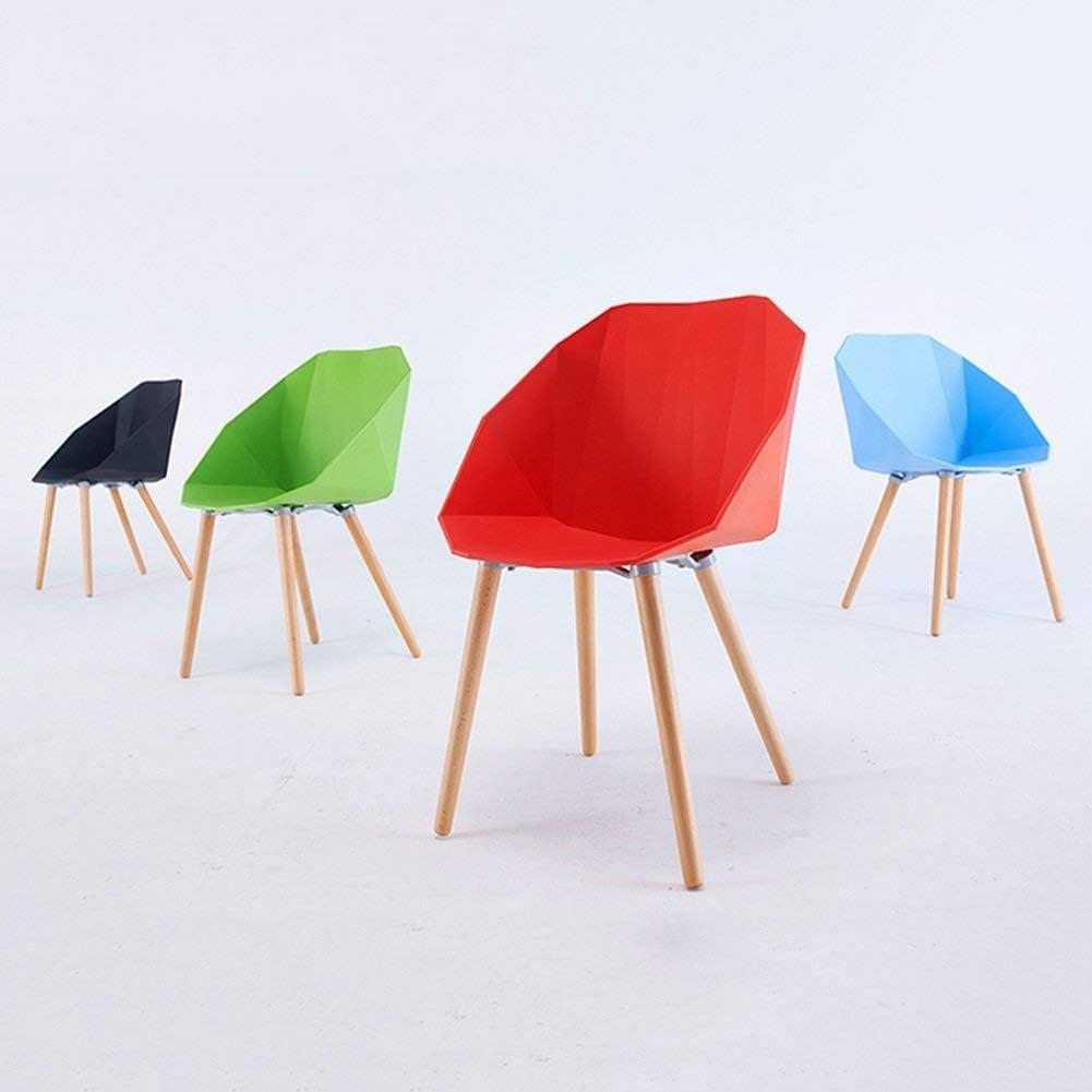 WSY Siège de Forme géométrique, Chaise à Dossier Simple décontractée en Bois massifWSY Green